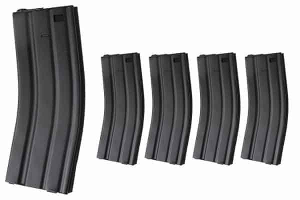 King Arms M16 450 Rounds Magazines box Set (5pcs) - BK