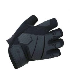 kombat uk alpha tactical fingerless gloves combat gloves - black