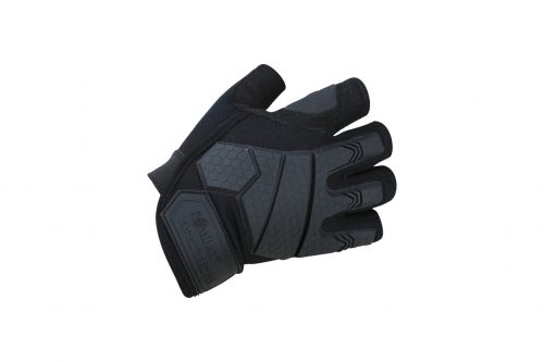 kombat uk alpha tactical fingerless gloves combat gloves - black