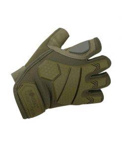 kombat uk alpha fingerless gloves combat gloves - olive
