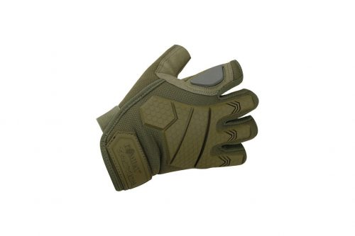 kombat uk alpha fingerless gloves combat gloves - olive