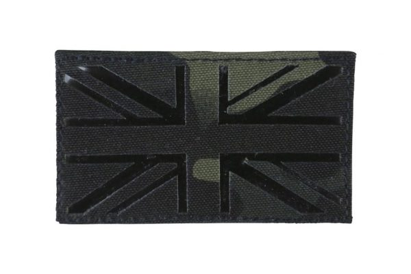 Kombat UK flag laser cut patch - BTP Black