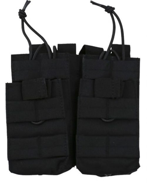 kombat uk double due black 1 Kombat UK Double Duo Molle Magazine Pouch