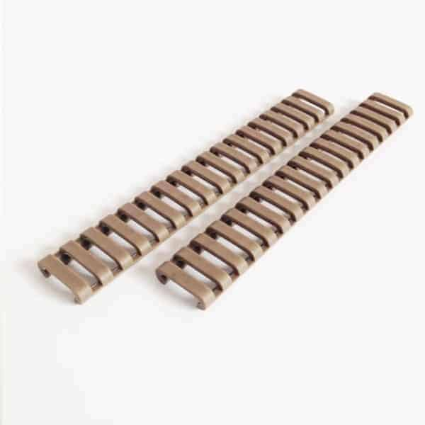 2x Ladder Rail Covers  for 20mm RIS - Tan