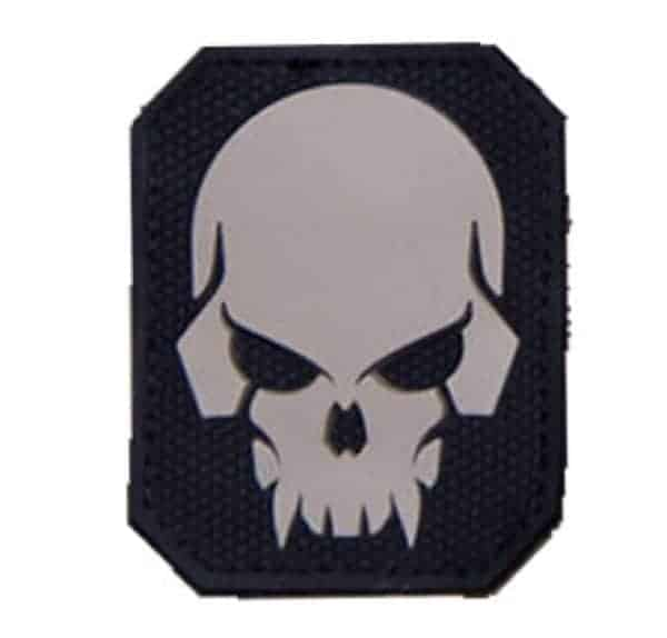Large pirate skull velcro morale patch