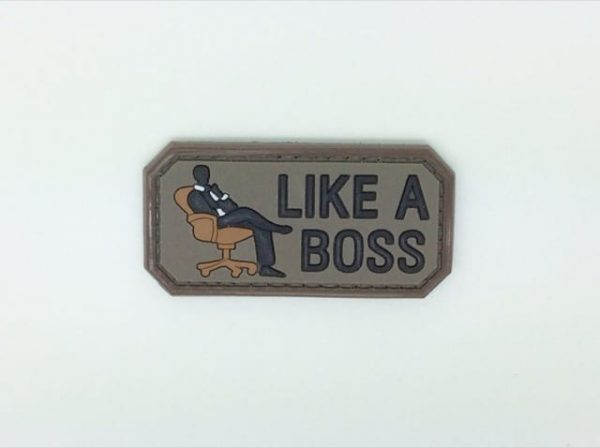 Like a boss morale patch (Brown)