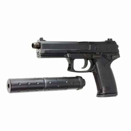ASG MK23 SOCOM Pistol With Barrel Extension Silencer
