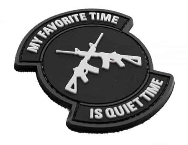 My favourite time is quiet time patch (Black)