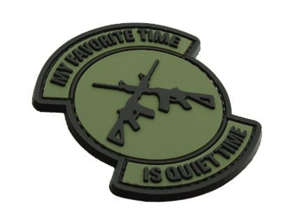 My favourite time is quiet time patch (Green)