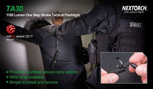 Nextorch TA30 Flashlight 6 modes with Strobe