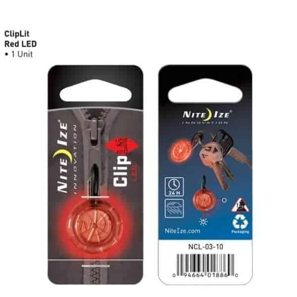 NiteIze Mini ClipLit LED disc light (red)