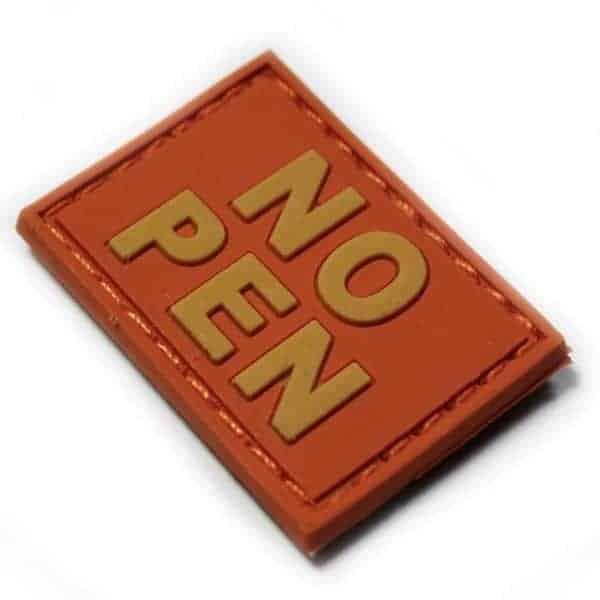 NO PEN small patch (Orange)