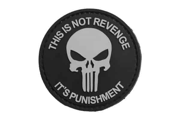 This Is Not Revenge It's Punishment (Black) Morale Patch