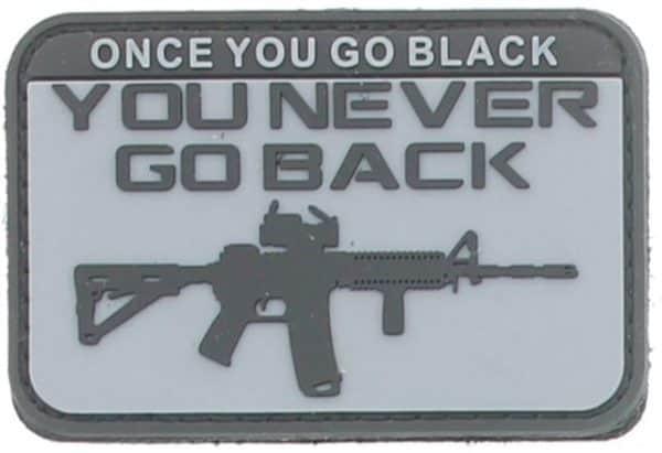 Once you go black, you never go back patch (Black)