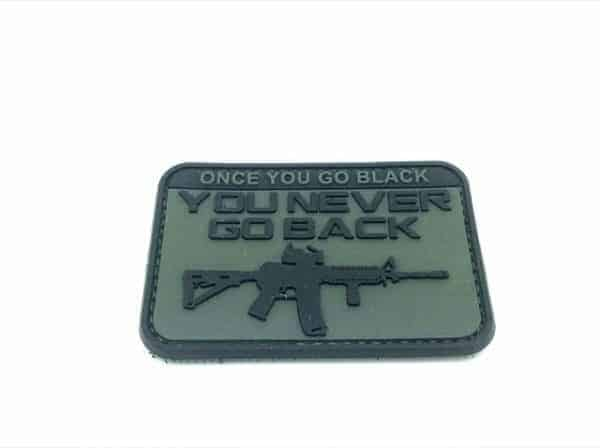 Once you go black, you never go back patch (Green)