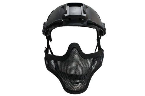 oper8 fast helmet mask black 1 Oper8 Mesh Mask for fast helmet - Black