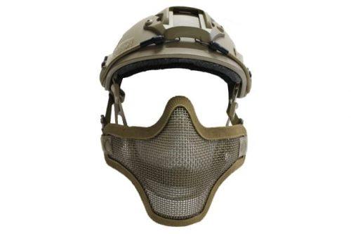 oper8 fast helmet mask tan 1 Oper8 Mesh Mask for fast helmet - Tan