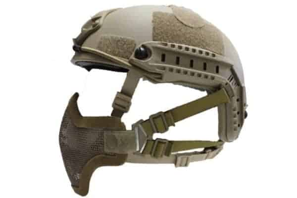 oper8 fast helmet mask tan 2 Oper8 Mesh Mask for fast helmet - Tan