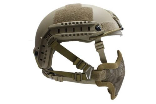 oper8 fast helmet mask tan 3 Oper8 Mesh Mask for fast helmet - Tan