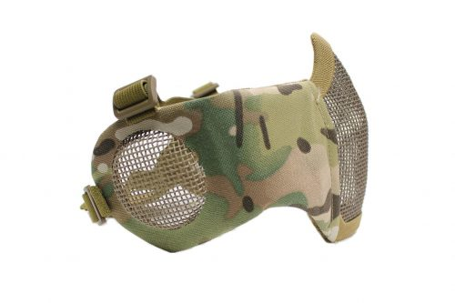 Oper8 Twin Strap Slimline Mesh Mask With Ear Protection