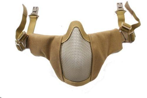 oper8 slimline padded helmet mask tan 1 Oper8 Fast helmet slimline mesh mask (Tan)