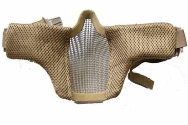 oper8 slimline padded helmet mask tan 2 Oper8 Fast helmet slimline mesh mask (Tan)