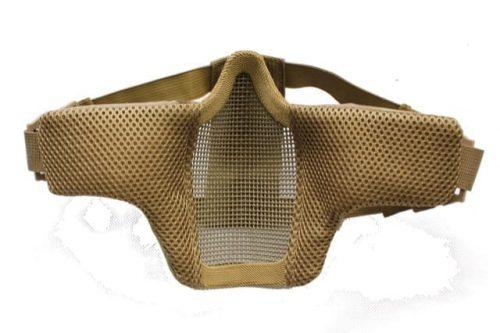 oper8 slimline padded lower mask tan 2 Oper8 Twin strap slimline mesh mask (MEC)