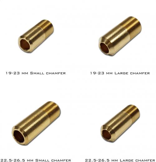 Perun Nozz-X end Small Chamfer 19-23mm