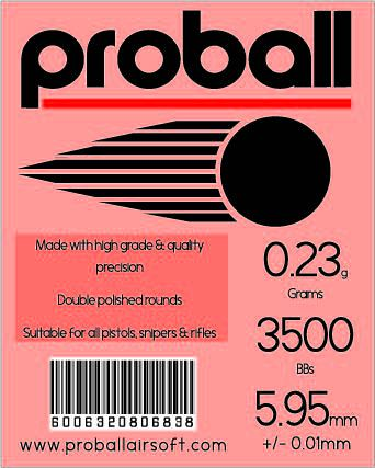 Proball 0.23g (3500) Airsoft 6mm BBs