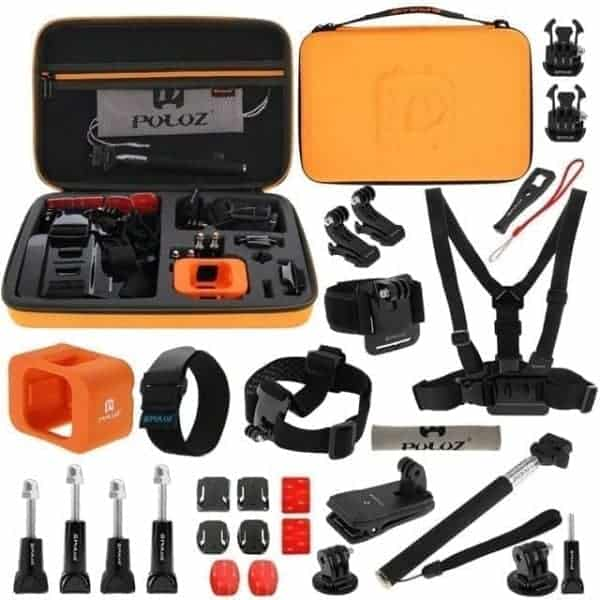 PULUZ 29 in 1 Accessories Combo Kit for go pro / Action Camera