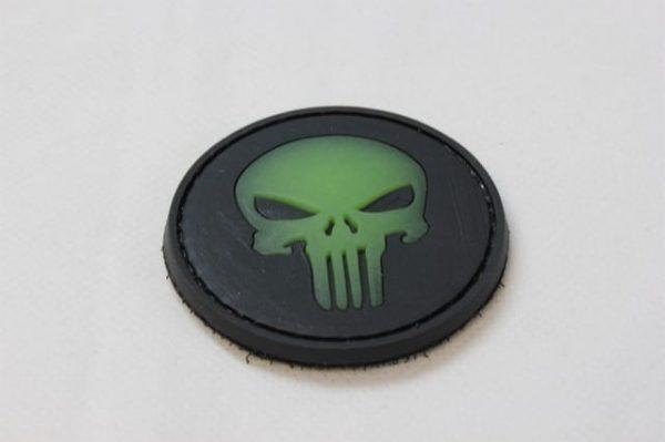 Punisher skull glow in the dark patch (Black)