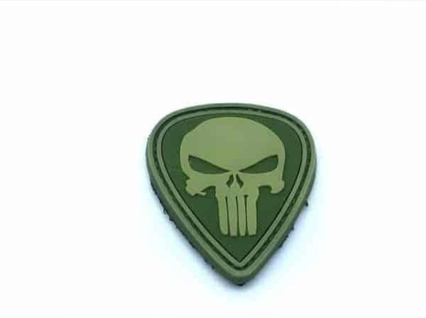 Punisher skull teardrop morale patch (Green)