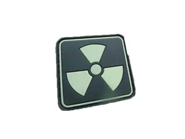 Radiation emblem glow in the dark patch (Black)