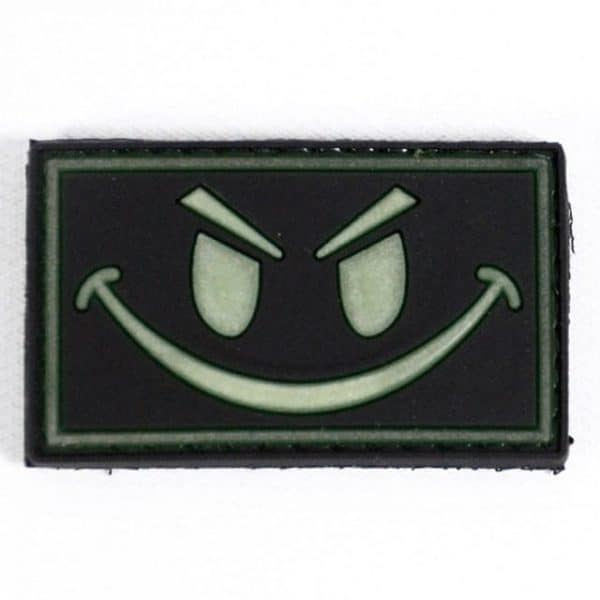 Rebel tactical smile glow in the dark patch (Black)