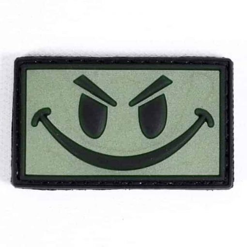 Rebel tactical smile glow in the dark patch (Green)