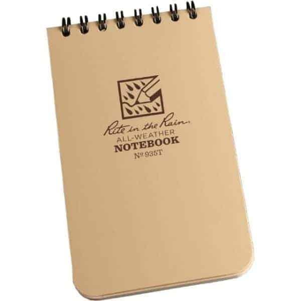 """Rite in the Rain 3"""" x 5"""" Notebook (Tan)"""
