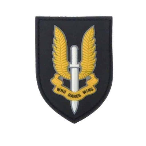 SAS Who dares wins patch (Black & Yellow)