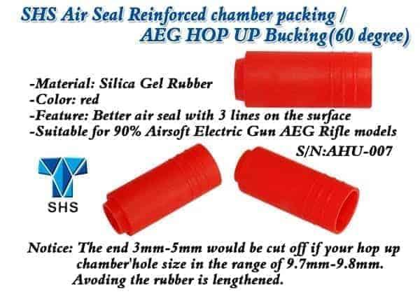 Rocket (SHS) 60 degree Reinforced chamber packing AEG hop up buc