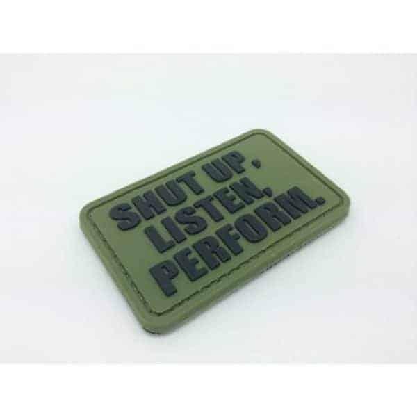 Shut Up, Listen, Perform morale patch (Green)