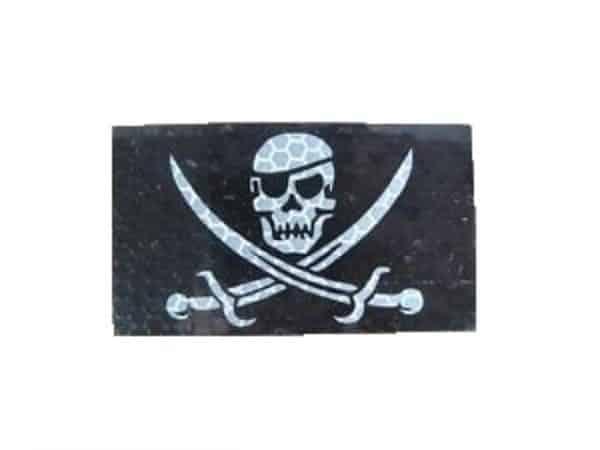 Skull & Crossbones IR reflective patch