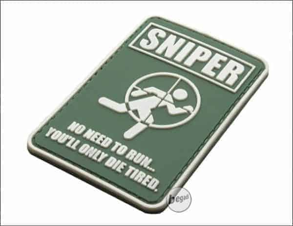 Sniper, don't run you'll only die tired patch