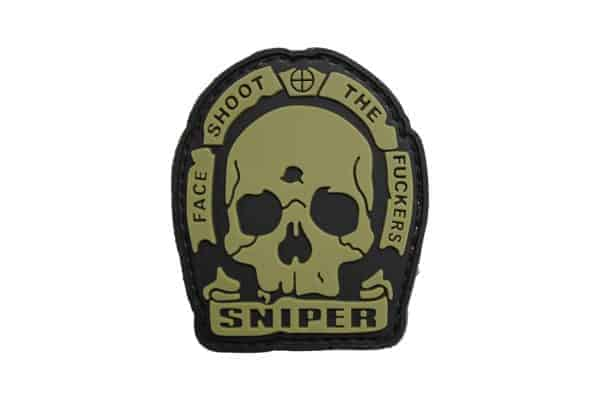 Sniper Face Shoot The F**kers (TAN)  Morale Patch