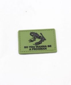 So you wanna be a Frog man pvc patch Green