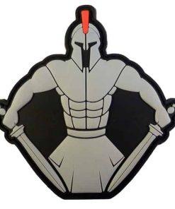 Spartan Warrior Molon Labe PVC patch
