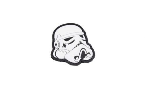 Star Wars Stormtrooper helmet velcro morale patch (Black)
