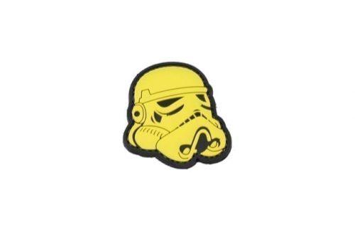 Star Wars Stormtrooper helmet velcro morale patch (Yellow)
