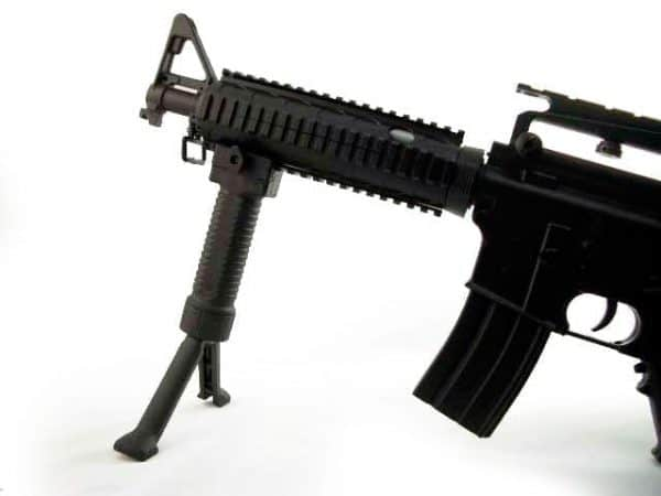 ZCI RIS Fore Grip w/Bipod For 20mm Picatinny & Weaver Rail