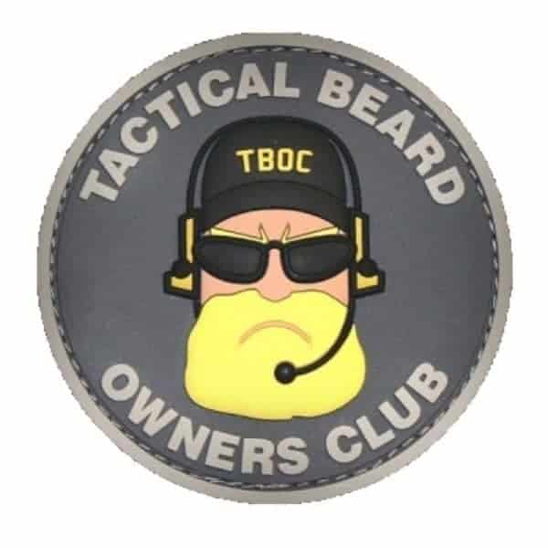 Tactical Beard Owners Club morale patch (Black)