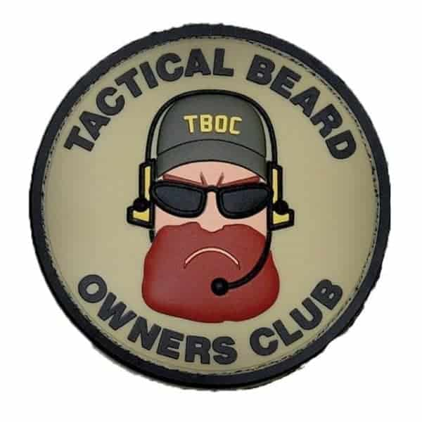 Tactical Beard Owners Club morale patch (Light)