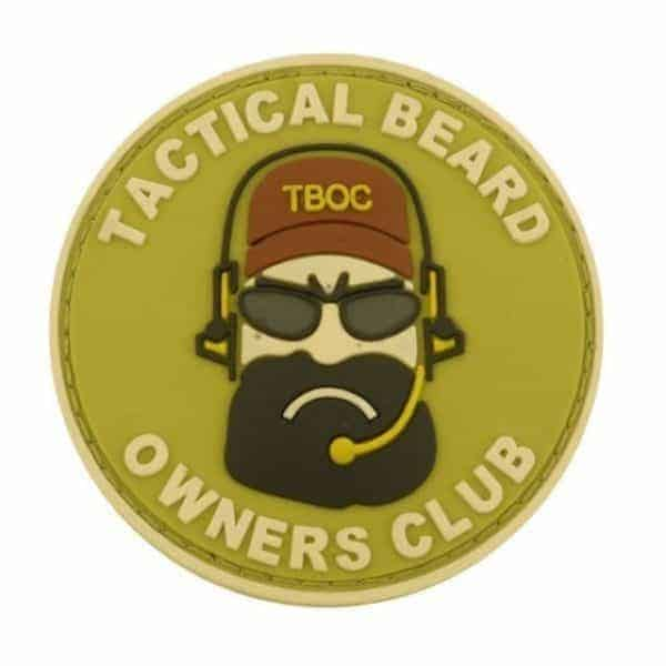 Tactical Beard Owners Club morale patch (Tan)